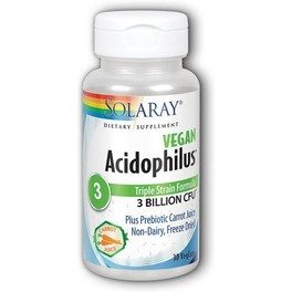 Solaray Acidophilus Plus 3 Billion 30 Caps