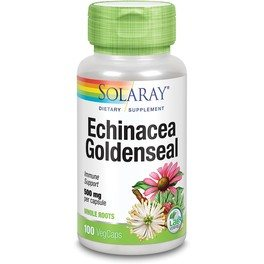 Solaray Echinacea Root & Golden Seal Root 500 Mg 100 Vcaps