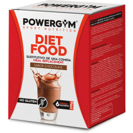 Powergym Diet Food Caja 6 Sobres Chocolate