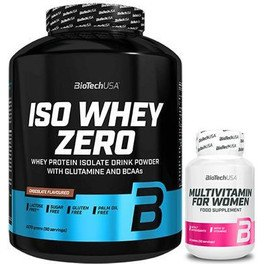 Pack BioTechUSA Iso Whey Zero 2270 gr + Multivitamin for Women 60 tabs