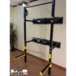 Grupo Contact Fitness Rack Abatible Jaula Sentadillas Abatible
