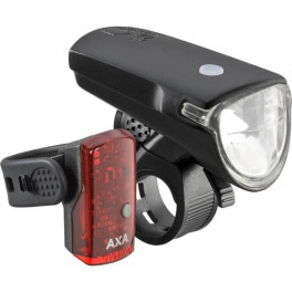 Axa Set Luces Greenline Led 40 Lux Usb Negro/rojo