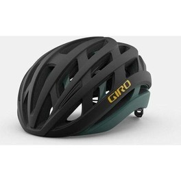 Giro Casco Helios Spherical Negro Mate/verde