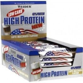 Weider 40% Low Carb High Protein Bar 20 barritas x 100 gr