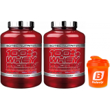 Pack Scitec Nutrition 100% Whey protein Professional 2 botes x 2,35 kg + Bulevip Shaker 300 ml