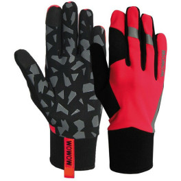 Wowow Guantes Largos Early Fog Fluo Rojo