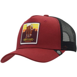 The Indian Face Born To Skate Red And Black Gorra