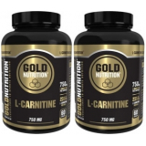 Pack Gold Nutrition L-Carnitina 750 mg 2 botes x 60 caps