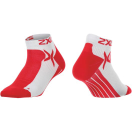 2xu Mens Low Rise Perf Sock White/neon Red