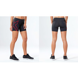 "2xu Woman Compression 5"" Short Black Tomato"