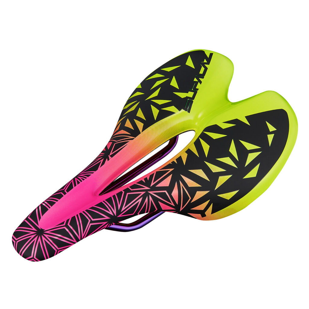 Supacaz Ignite Ti Saddle Neon Pink/yellow Fade 143mm