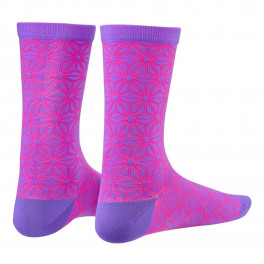 Supacaz Socks Asanoha Neon Purple And Neon Pink