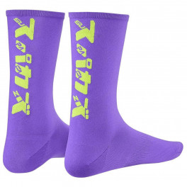 Supacaz Socks Katakana Neon Purple And Neon Yellow