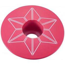 Supacaz Star Capz Neon Pink (powder Coated)