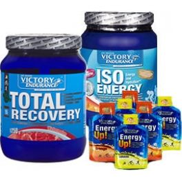 Pack Victory Endurance Total Recovery 1250 gr + Iso Energy 900 gr + 6 geles Energy Up!
