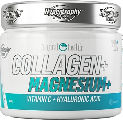 Hypertrophy Nutrition Natural Health Collagen + Magnesium + Vitamin C + Hyaluronic Acid 400 gr