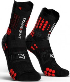 Compressport Calcetines Pro Racing Socks V3.0 Trail Negro-Rojo