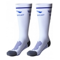 Sportlast Medilast Calcetines Largos Compresion Pro Running Everest Blanco-Azul