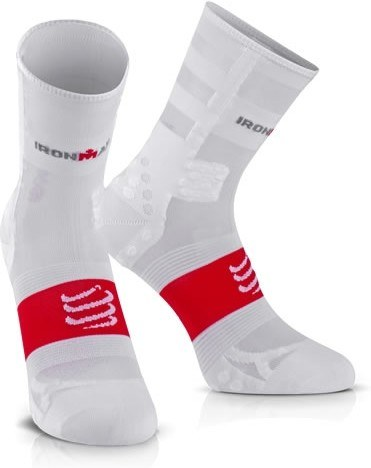 Compressport Calcetines ProRacing V3.0 UltraLight Run Hi Ironman 2017 Blanco
