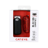 Cateye Kit Luces Faro El135/piloto Omni3
