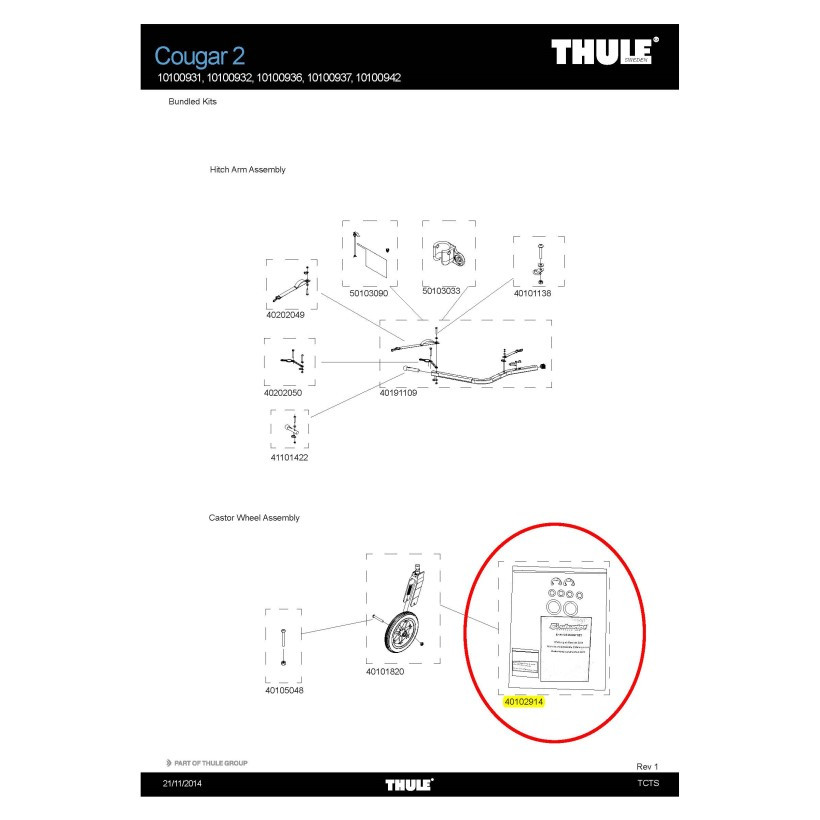 Thule Kit Mantenimiento Eje Rueda Cougar Chee