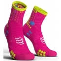 - Compressport Calcetines Pro Racing Socks V3.0 Run High Rosa Fluor T2