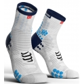 - Compressport Calcetines Pro Racing Socks V3.0 Run High Blanco-Azul T1