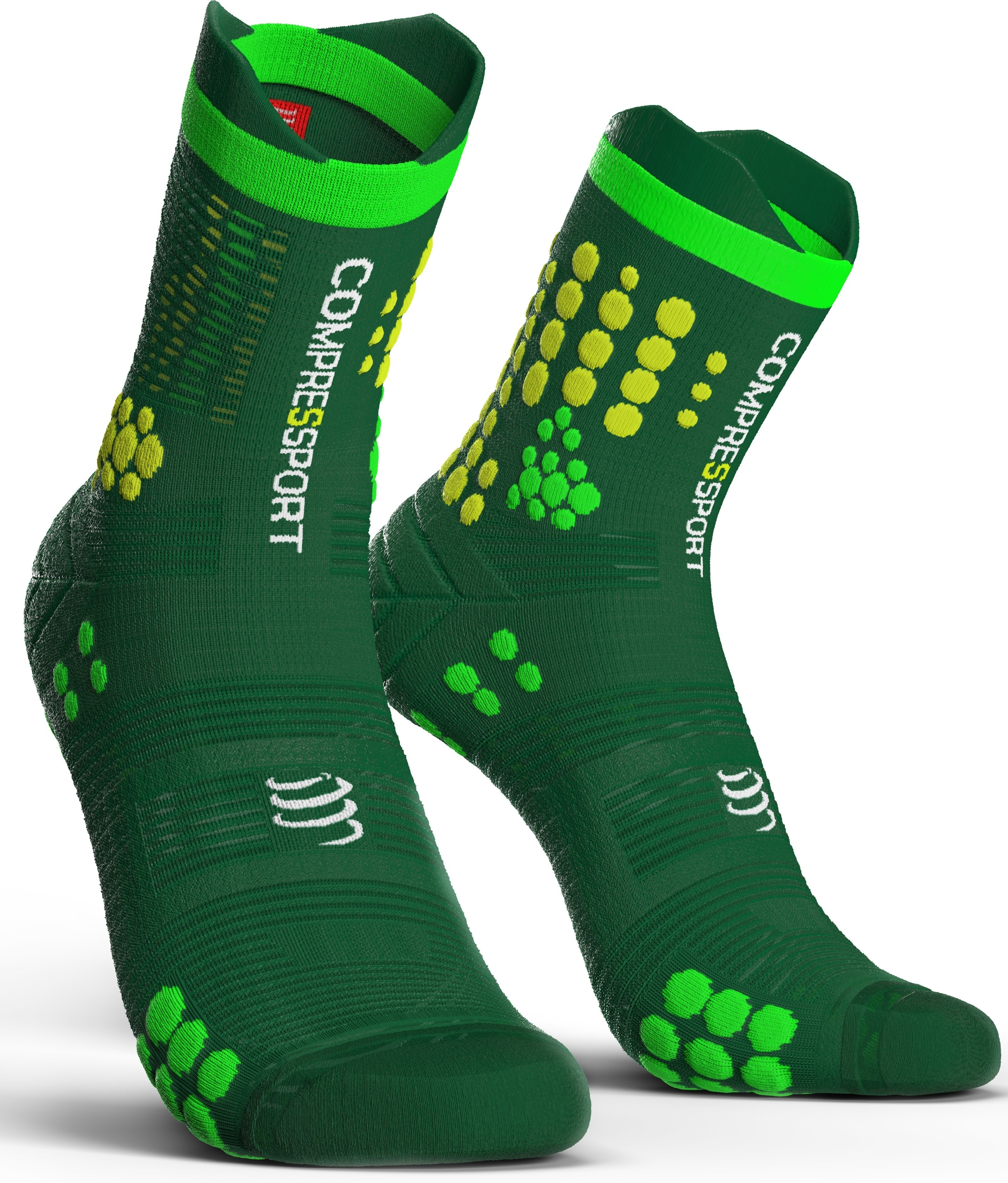 Compressport Calcetines Pro Racing Socks V3.0 Trail Verde-Amarillo