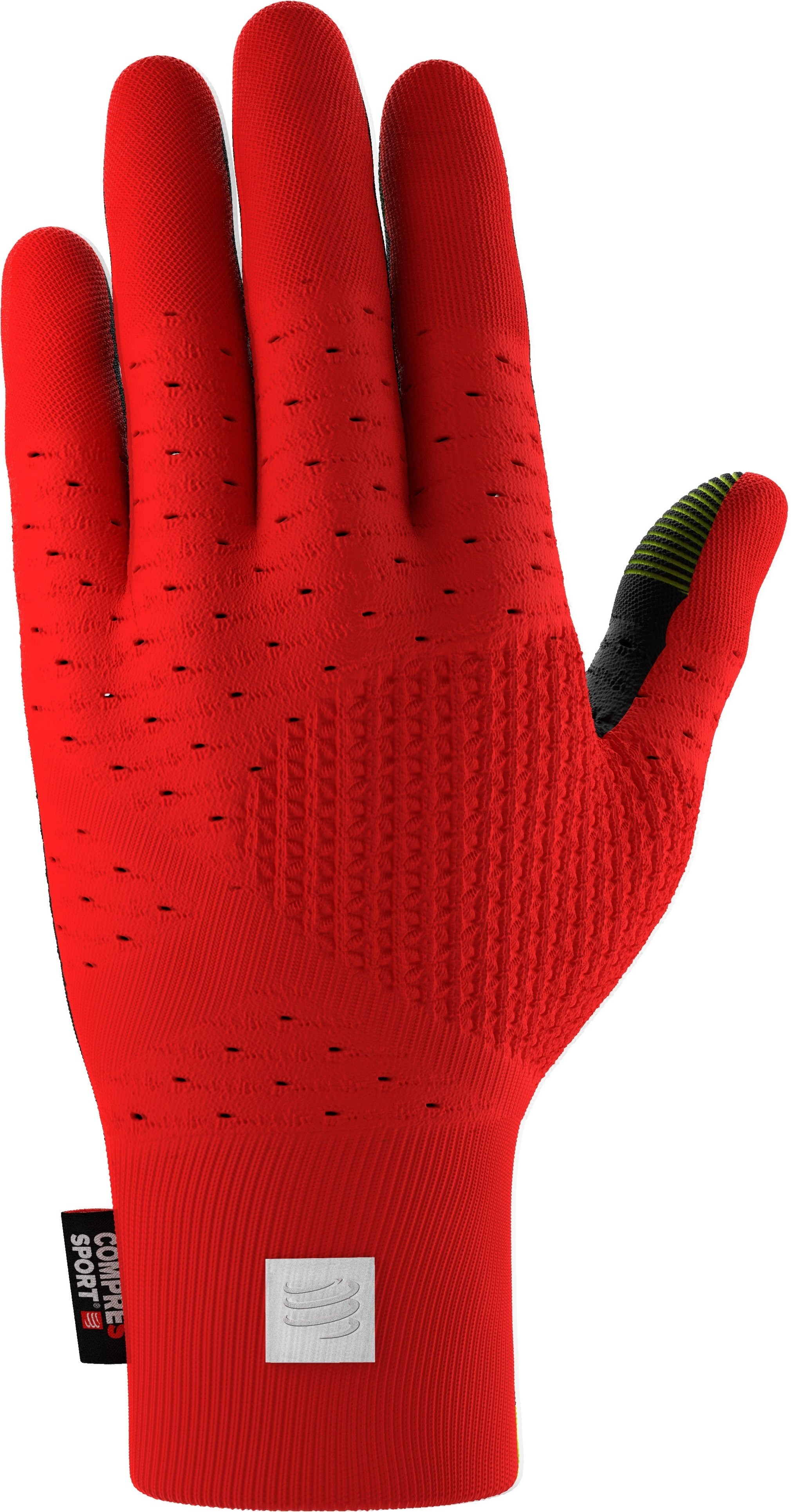 Compressport 3D Thermo Seamless Running Gloves Rojo-Negro
