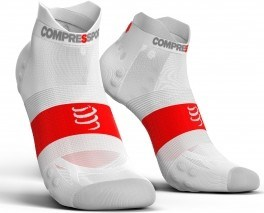 Compressport Calcetines Pro Racing Socks V3.0 Ultra Light Run Low Blanco