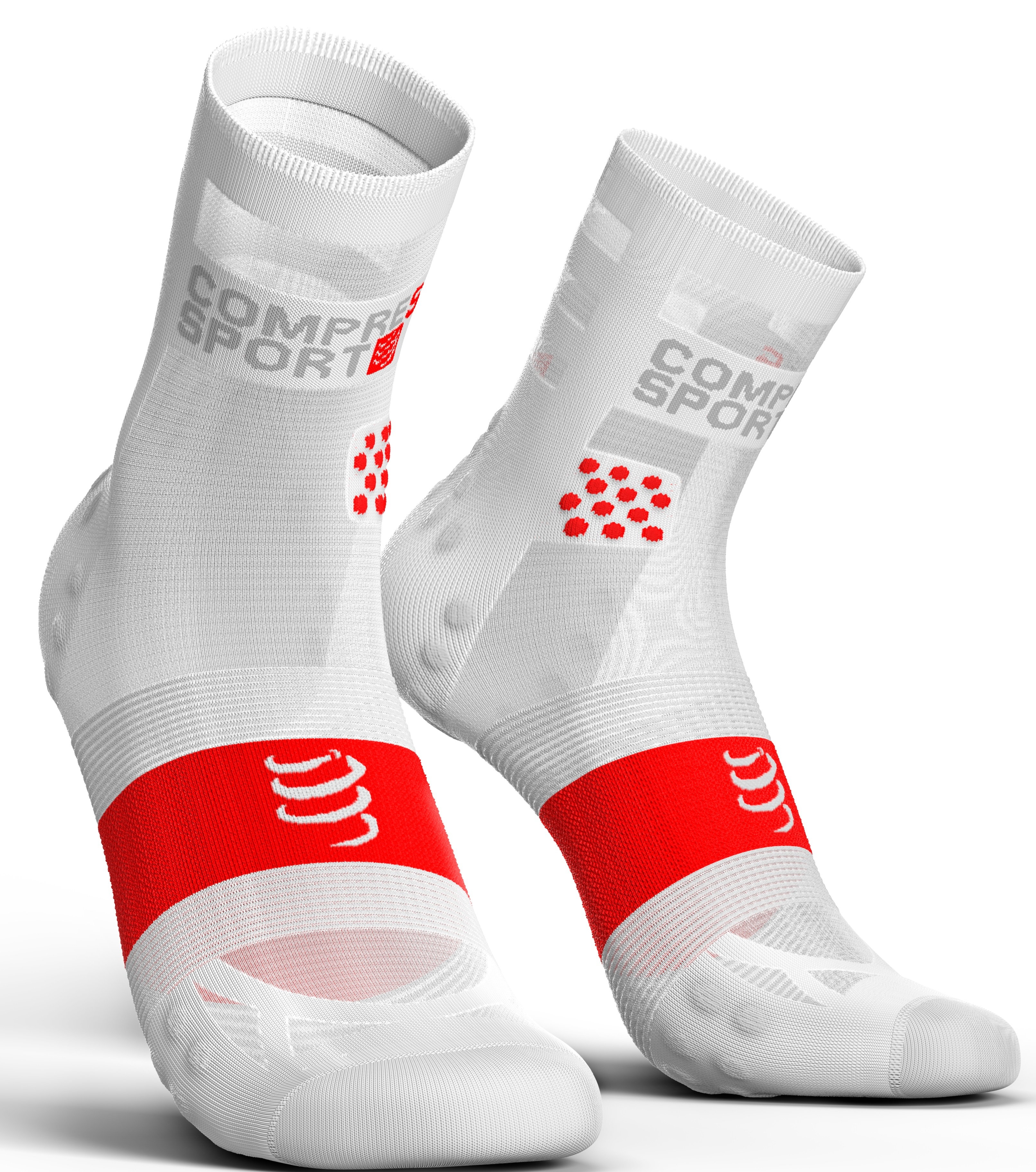 Compressport Calcetines Pro Racing Socks V3.0 Ultra Light Run High Smart Blanco
