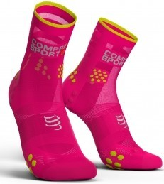 Compressport Calcetines Pro Racing Socks V3.0 Ultra Light Run High Rosa Fluor