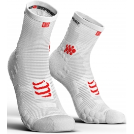 Compressport Calcetines Pro Racing Socks V3.0 Run High Smart Blanco