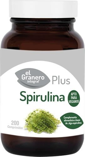 El Granero Integral Spirulina Plus 390 mg 200 caps