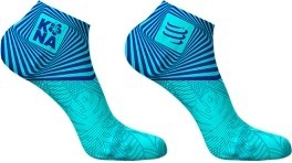 Compressport Calcetines Pro Racing Socks V3.0 Ultra Light Run Low Kona 2017 Azul