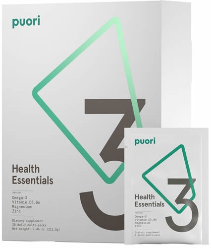 Puori Health Essentials - 3 Pack 30 dias