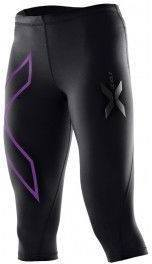 2XU Mallas Pirata Mujer 3/4 Compression Tights Negro Logo Morado