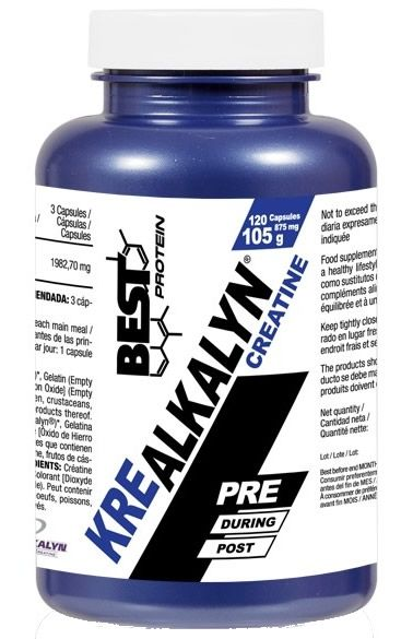 Best Protein Kre Alkalyn 120 caps