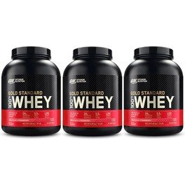 Optimum Nutrition Proteína On 100% Whey Gold Standard 3 Botes x 5 Lbs (2,27 Kg)