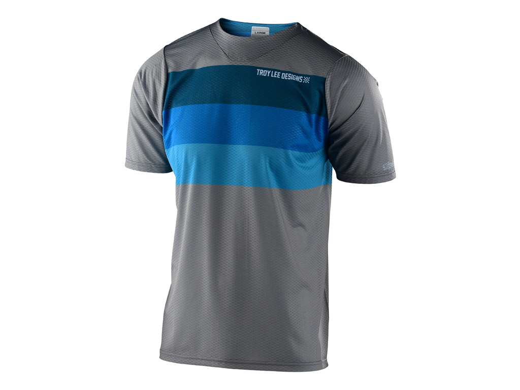 Troy Lee Designs Skyline Air Ss Jersey 2020 Continental Gray/blue L