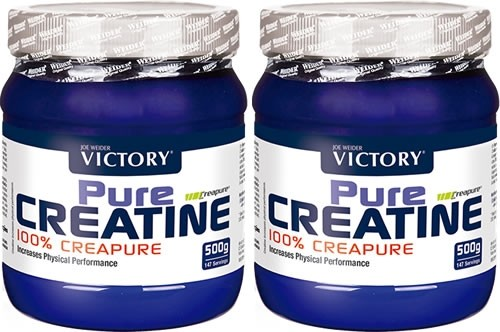 Pack Victory Pure Creatina (100% Creapure) 2 botes x 500 gr