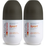 Pack Mussvital Dermactive Desodorante Roll On Sport Hombre 2 botes x 75 ml