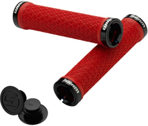 Sram Puño Locking Grips Red Double Clamp