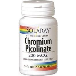 Solaray Chromium Picolinate 50 Tabletas