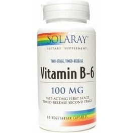 Solaray Vitamina B6 100 Mg 60 Caps
