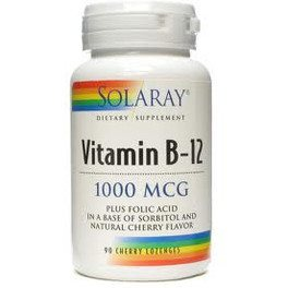 Solaray Vitamina B12 + Acido Folico 1000 Mcg 90 Comp
