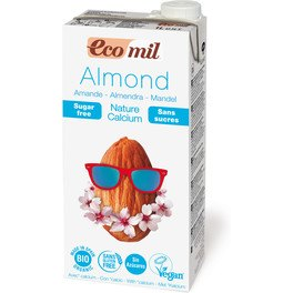 Nutriops Ecomil Almond Nature Calcio Sin Azucar 1l