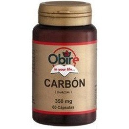 Obire Carbon Vegetal 250 Mg 60 Caps