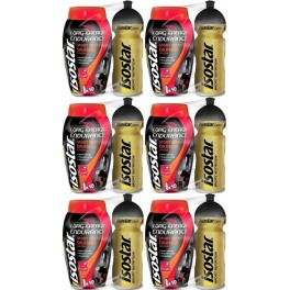 Isostar Long Energy 790 gr + Bidón Oro 650 ml x 6 Botes