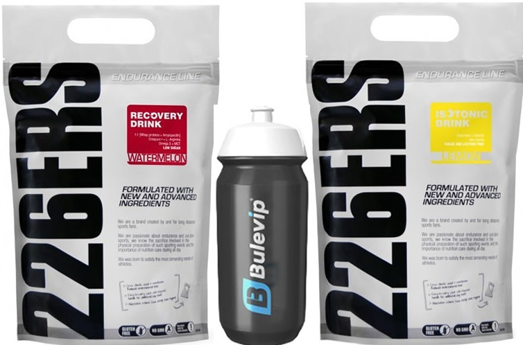 Pack 226ERS Recovery Drink 1 kg + Isotonic Drink 1 kg + Bidon Bulevip 600 ml